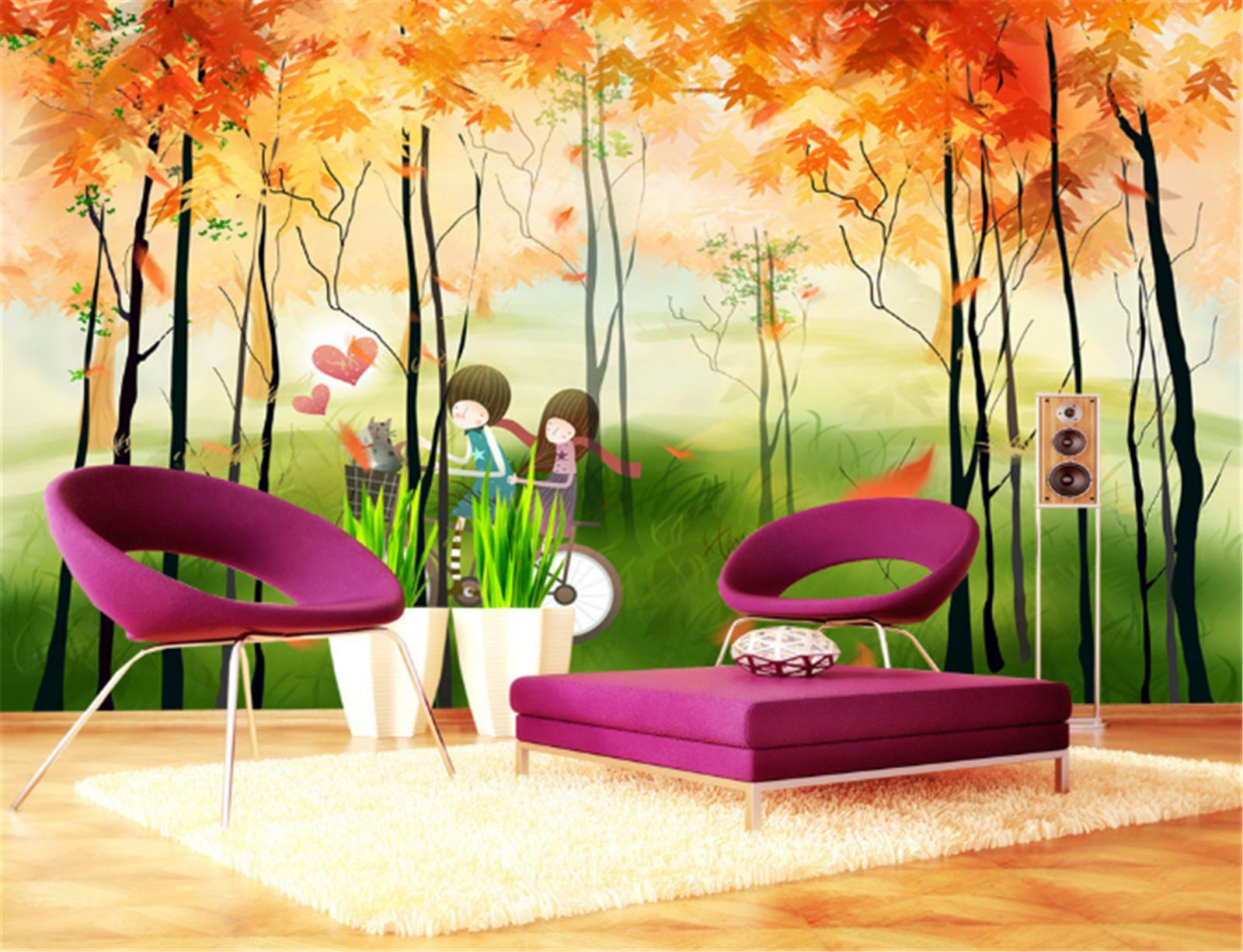 3D Märchen Landschaft 7998 Tapete Wandgemälde Tapeten Bild Familie DE Lemon | Sehr gute Qualität  | Viele Sorten  |