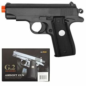 Details about G2 Galaxy Airsoft Spring Pistol M1911 M9 Black Replica Colt  1911 Full Metal Gun