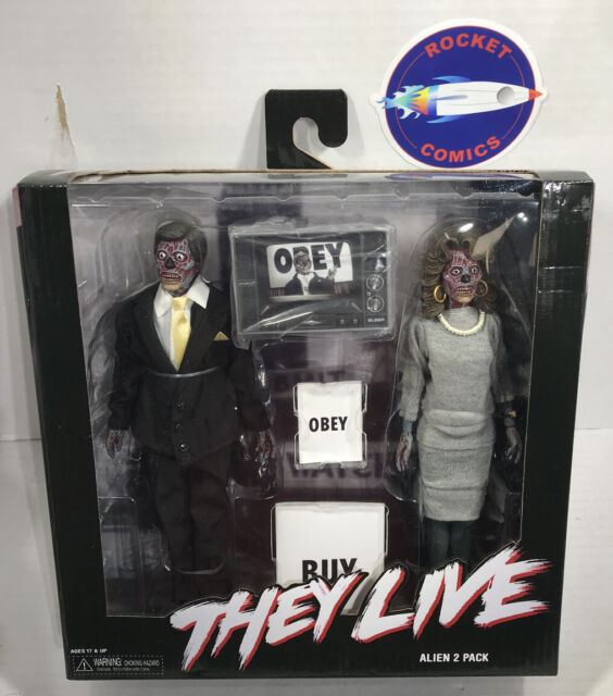 """NECA They Live Alien 2 Pack 8/"""" Clothed Action Figures"""