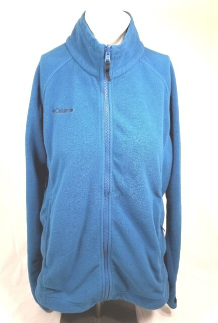 Columbia Womens Size Extra Large Zip Up Fleece Blueish Green Jacket Long Sleeve