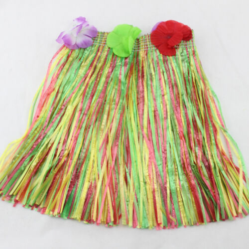 Hawaiian Grass Skirts Flowers Hula Fancy Dress Adults Costume Summer Beach CPSN