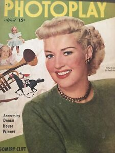 Vintage-Collectible-Movie-Magazine-Betty-Grable-Photoplay-April-1949