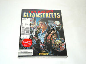 OPERATION-CLEANSTREETS-new-factory-sealed-big-box-PC-game-by-Broderbund