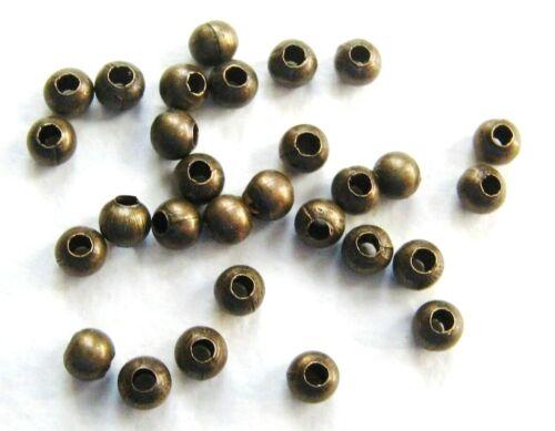 Metallperlen Spacer Kugeln 3mm bronze 100 Stück SERAJOSY