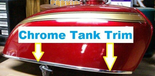 CHROME MOTORCYCLE FENDER GAS Tank EDGE TRIM PROTECTION KIT (USA) Made!