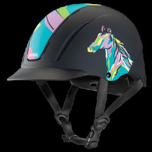 Troxel Riding Helmet Spirit Pop Art Pony Horse Safety Low Profile Equine