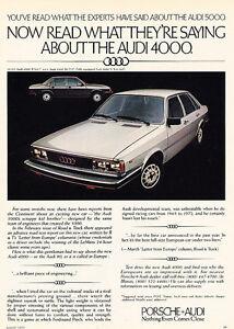1981 Audi 4000 4E in Ramsau Bavaria Classic Vintage Advertisement Print Ad A99