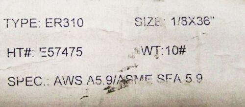 3 pc ER310 310 STAINLESS STEEL TIG WELDING WIRE ROD 1//8 X 36 AWSA5.9//ASMESFA5.9