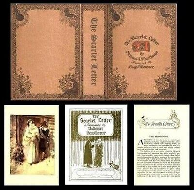 Handcrafted Illustrated Miniature Book Scarlet Letter 1:12 Dollhouse Miniatures