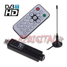 CHIAVETTA USB DVB-T per DIGITALE TERRESTRE COMPUTER HD T2 PC REGISTRA HARD DISK