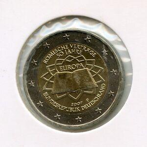 Deutschland 2 Euro Münze 2007 50 Jahre Römische Verträge F