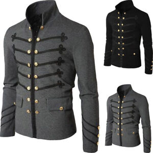 clearance sale cheap sale sleek Details about Men Gothic Brocade Dress Jacket Frock Coats Steampunk  Victorian Morning Top Cool