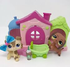 Littlest Pet Shop LPS Dog Lot Tan Brown Collie #2210 Dachshund #992 Accessories