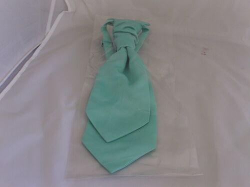 Matt MINT Green Boys Scrunchie Ruche Wedding Tie CRAVAT More U Buy/> More U Save