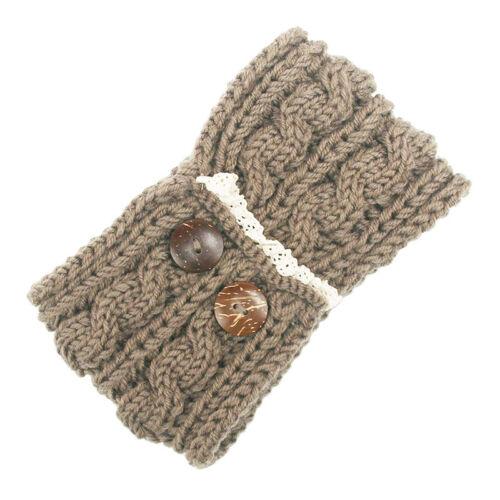 Winter Women knitted Ear Warmer headband crochet hairband Hair Band headwrap