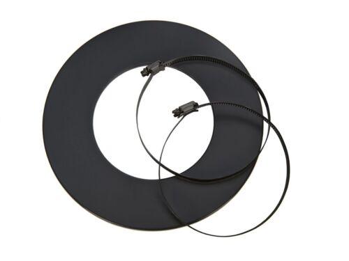grau für Aluflex Rohr ISOLIERT DN 50 60 67 80 100 125 mm Rosette schwarz o