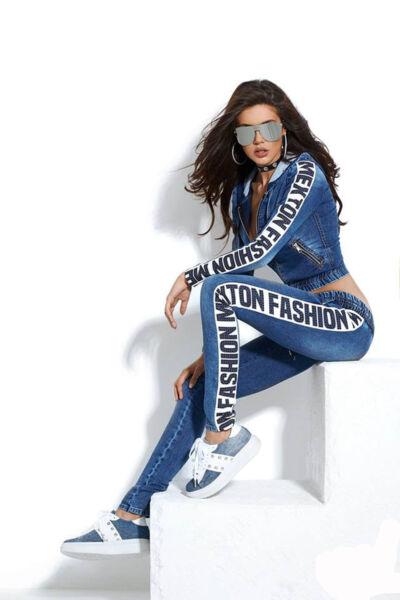 By Alina Mexton Jeans 2-Teiler Jeansjacke Röhrenjeans Jeanshose Freizeitanzug -M