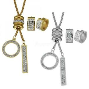 Women-Stainless-Steel-Newly-Jewelry-Sets-Ring-Geometric-Stick-Earring-Necklace