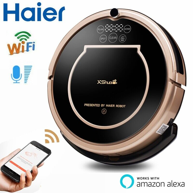 Haier XShuai Wifi Alexa Voice Control Self-Charging Smart Robot Vacuum Cleaner