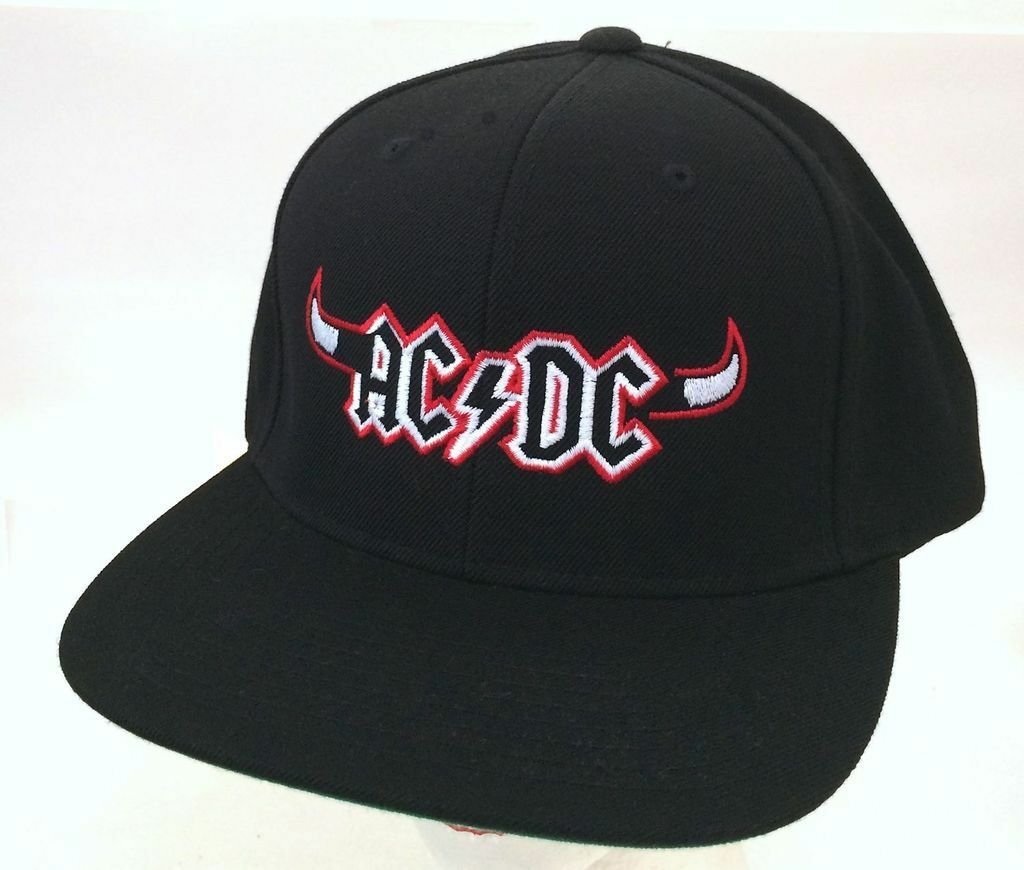 AC/DC Chicago IL Horns Event Concert New Black Baseball Hat Cap New Concert Official Merch 4fe2f7