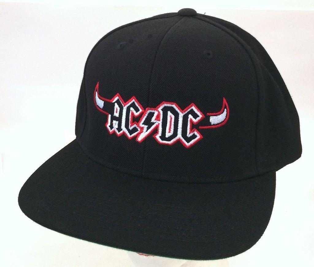 AC/DC Chicago IL Horns Event Concert New Black Baseball Hat Cap New Concert Official Merch cf0628
