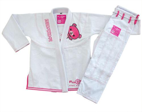 FLUORY Kids Brazilian Jiu Jitsu Suit Childrens BJJ Gi Kimonos Women BJJ Uniform