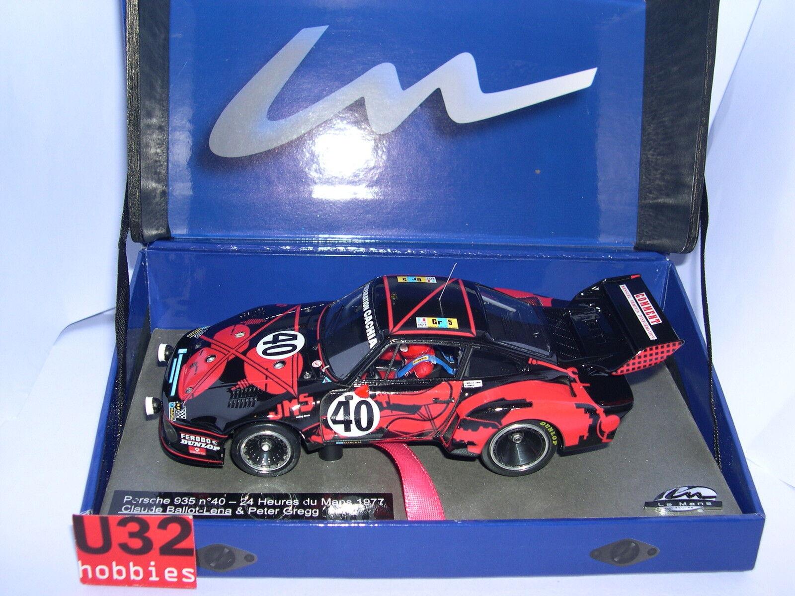 Le Mans Miniaturen 132054M Porsche 935  40 24H. Le Mans 1977 BalMasse Resine MB