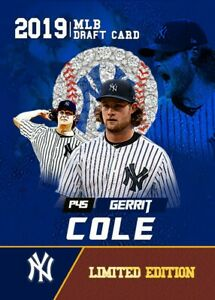5-GERRIT-COLE-2019-ROOKIE-GEMS-FIRST-EVER-MLB-DRAFT-CARD-NEW-YORK-YANKEES
