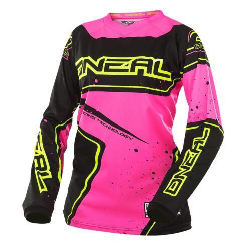 O/'Neal Element Racewear Damen Jersey Pink MX MTB Shirt Moto Cross Mountainbike