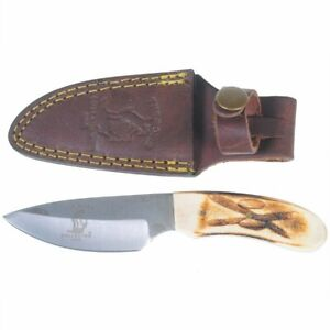 New-Bone-Collector-Hand-Made-Skinning-Knive-Hunting-Knife-Leather-Sheath-BC808