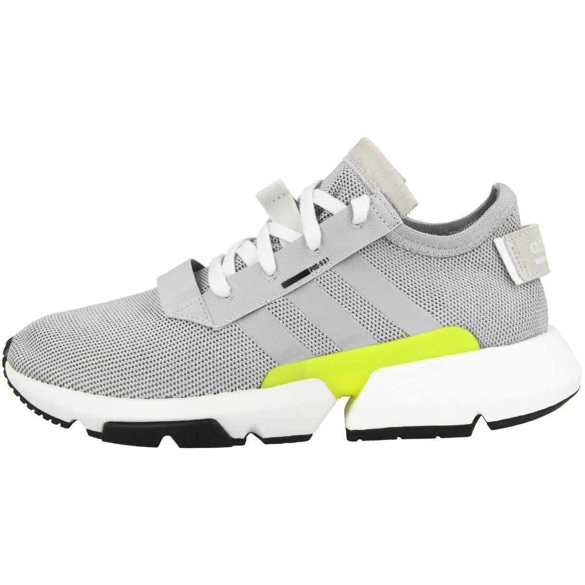 Adidas POD-S3.1 Chaussures Homme Sports et Loisirs Baskets Gris Choc Jaune