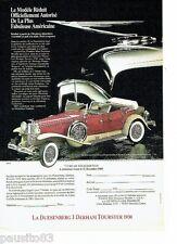 PUBLICITE ADVERTISING 116  1988  Médaillier Franklin Dusenberg J Derham Tourster