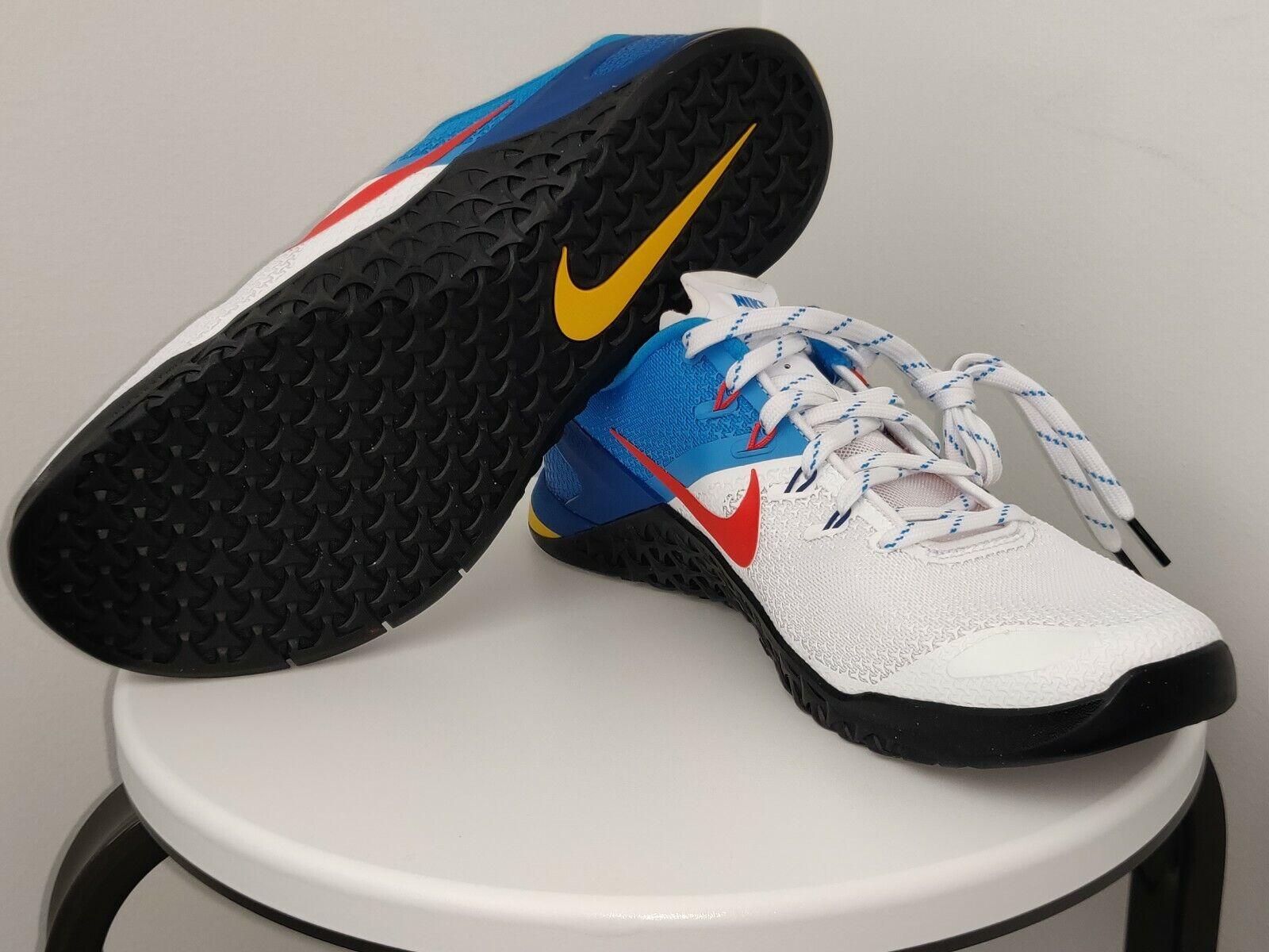 Nike Metcon 4 Talla 11 Zapatos de levantamiento de pesas Entrenamiento blancoo Naranja Azul AH7453-184
