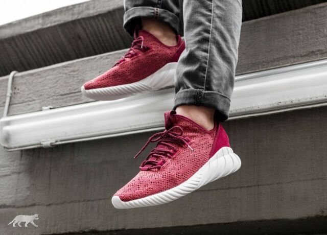 best website 17bd4 261b9 Adidas Tubular Doom Sock Primeknit Men's (Size 8 - 12) Red / Black White  BY3560