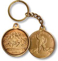 Mt. Rainier / Summiteer - Washington - Bronze Challenge Coin Key Chain