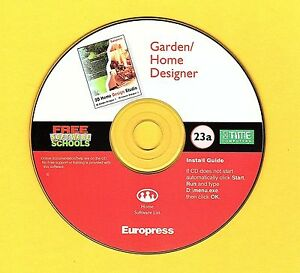 Garden-amp-Home-Designer-Computer-Disc-Rom-NO-COVER-for-Windows-95-98-Room-Layout