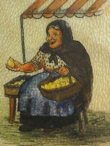 Alfred-Donner-Aquarell-Zeichnung-1936-37-auf-LEDER-HAMBURG-ZITRONENJETTE