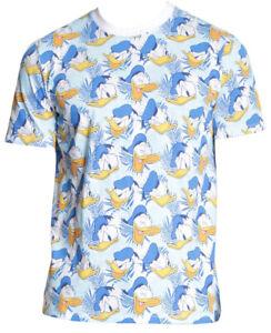 Disney-Donald-Duck-All-Over-Print-Men-039-s-T-Shirt-New