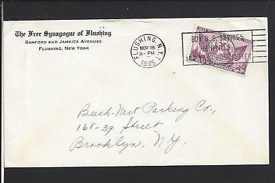 Flushing New York 1932 Cover Advt Free Synagogue Of Flushing Queens Co 1826 Op Ebay