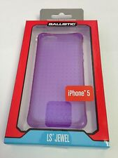 New Ballistic LS Jewel Purple TPU Case Gel Cover & LCD Protector For iPhone 5 5S