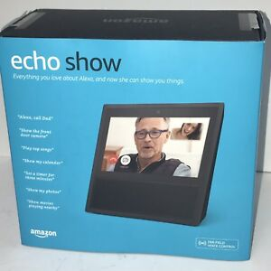Barely-Used-Amazon-Echo-Show-Black-In-Retail-Box-MINT-CONDITION-Model-MW46WB