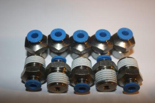 10 x FESTO Pneumatik QS-1//4-4 QS-1//4-6 153003 QS-1//4-8 153005 QS-1//4-10 153007