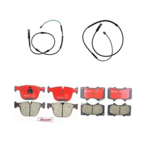 BMW E71 X6 M 2010-2014 Front and Rear Brake Pads with Sensors Brembo Kit NEW