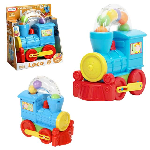 Baby Educational Toys - Push Along Ball Blowing Loco - Age 12 Months +
