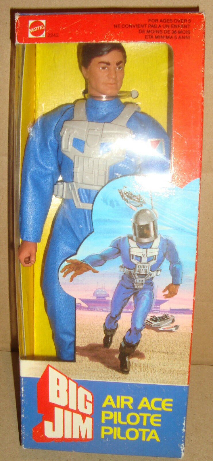 BIG JIM 2242 AIR ACE PILOTA MATTEL 1985