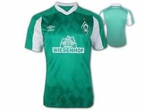 Umbro-Werder-Bremen-Heimtrikot-20-21-gruen-SVW-Home-Shirt-Fan-Jersey-Groesse-S-3XL