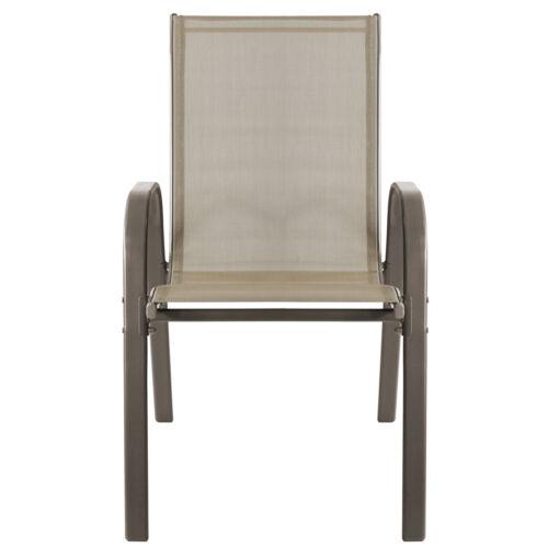 8er Lot Chaise Set /'New York/' chaise de jardin avec textiles entoilage Champagne