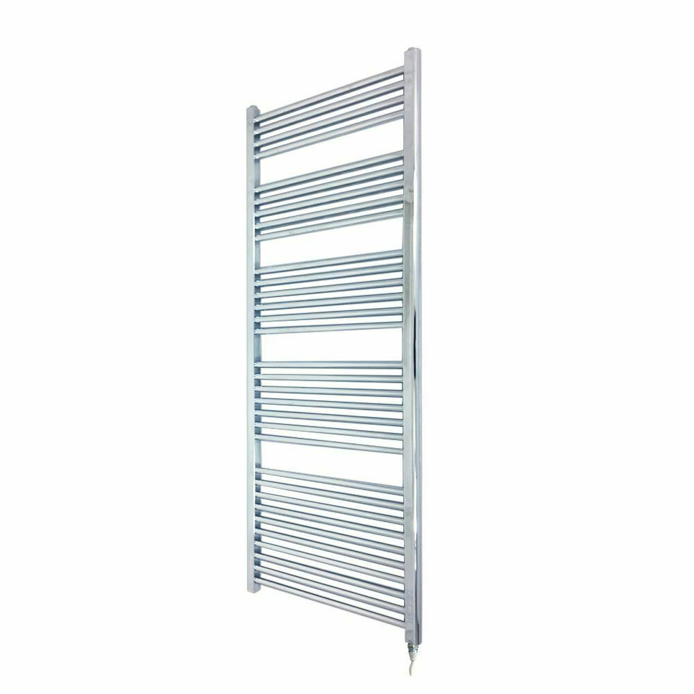 500mm x 1600mm Straight Chrome 600W Fixed Temp Electric Towel Rail & Element