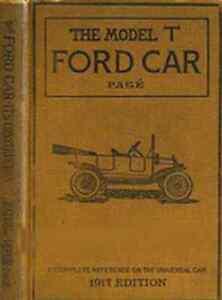 1917-MODEL-T-FORD-auto-costruzione-operazione-riparazione-manuale-libro-su-CD