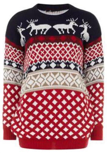 Nouveau Débardeur Fantaisie Pudding POM POM Tricot Noël Pull Tops Dress 8-30